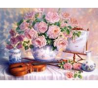 Алмазная выкладка Чувственные розы MyArt 40 х 50 см (арт. FS694)