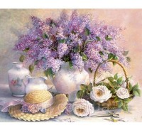 Алмазная выкладка Ароматный букет дачных цветов 40 х 50 см (арт. FS235)