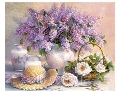 Купить Алмазная выкладка Ароматный букет дачных цветов 40 х 50 см (арт. FS235)