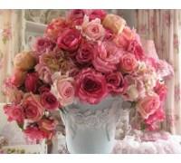 Алмазная вышивка Нежный букет роз 40 х 30 см (арт. FR149)