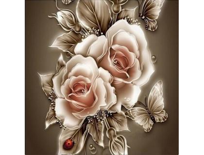Купить Алмазная мозаика Английские розы 30 х 30 см (арт. FR446)