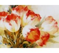 Алмазная вышивка без коробки Пастельные тюльпаны MyArt 40 х 30 см (арт. MA597)