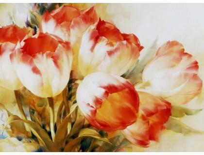 Купить Алмазная вышивка без коробки Пастельные тюльпаны MyArt 40 х 30 см (арт. MA597)