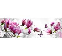 Набор алмазной вышивки Бабочка на ветке с цветами 20 х 40 см (арт. FS040)