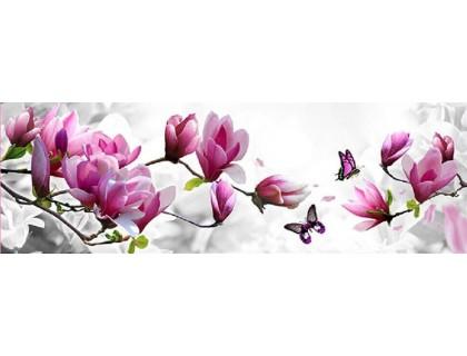 Купить Набор алмазной вышивки Бабочка на ветке с цветами 20 х 40 см (арт. FS040)