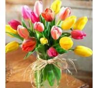 Алмазная вышивка Весенний букет тюльпанов 20 х 20 см (арт. FS066)