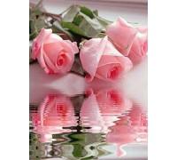 Алмазная вышивка без коробки MyArt Нежные розы 20 х 25 см (арт. MA769)