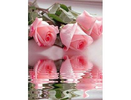 Купить Алмазная вышивка Три розы 30 х 40 см (арт. FR308) круглые камни