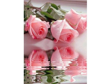 Купить Алмазная вышивка без коробки MyArt Розы у воды 50 х 66 см (арт. MA600)