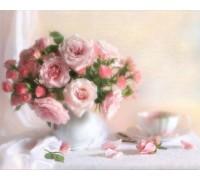 Алмазная вышивка Чайные розы 30 х 24 см (арт. FS114)
