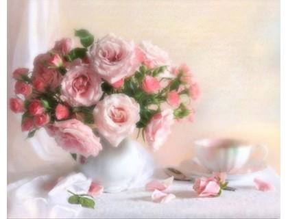 Купить Алмазная вышивка Чайные розы 30 х 24 см (арт. FS114)