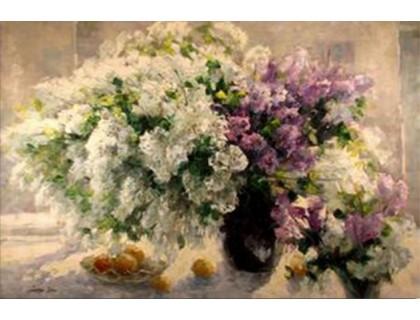 Купить Алмазная вышивка Цветы в пастельных тонах 30*20 см (арт. FS126)