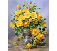 Алмазная вышивка Желтые розы 25 х 20 см (арт. FS164)