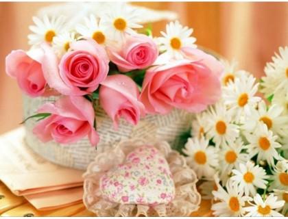 Купить Алмазная вышивка Розы и ромашки для тебя 40 х 30 см (арт. FS167)