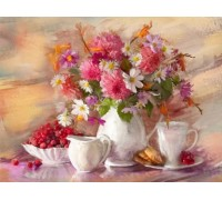 Алмазная вышивка Букет полевых цветов 40 х 30 см (арт. FS170)