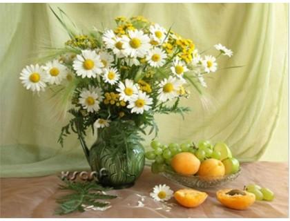 Купить Алмазная вышивка Ромашки и абрикосы 40 х 30 см (арт. FS172)