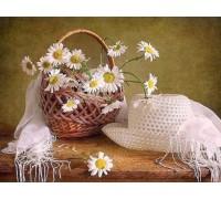 Алмазная вышивка Корзина с цветами 40 х 30 см (арт. FS175)