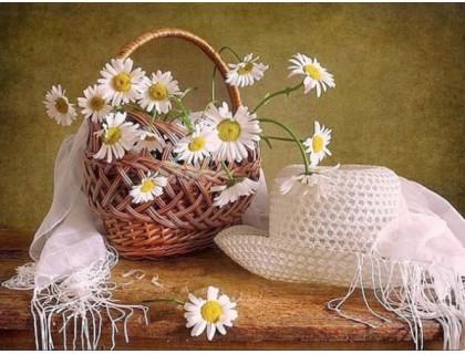 Купить Алмазная вышивка Корзина с цветами 40 х 30 см (арт. FS175)