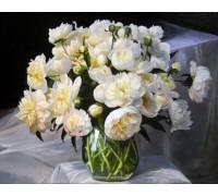 Набор алмазной вышивки Белоснежные пионы 50 х 40 см (арт. FS208)