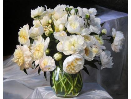 Купить Набор алмазной вышивки Белоснежные пионы 50 х 40 см (арт. FS208)