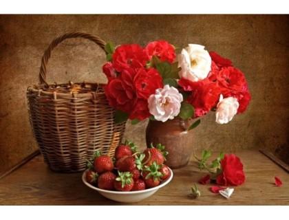 Купить Алмазная вышивка Цветы для тебя 40 х 30 см (арт. FS303)