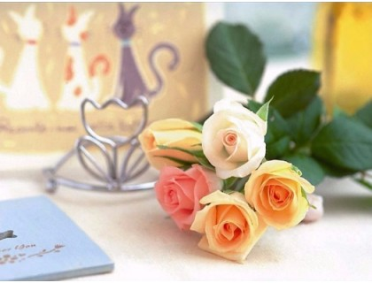 Купить Алмазная вышивка Сладкий запах роз 30 х 45 см (арт. FS350)