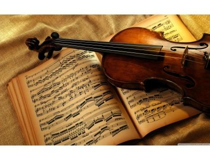 Купить Набор алмазной мозаики Скрипка и ноты 40 х 30 см (арт. FS507)