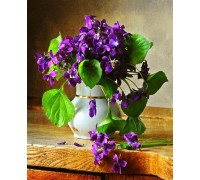 Алмазна вишивка Свіжі квіти 30 х 45 см (арт. FS628)
