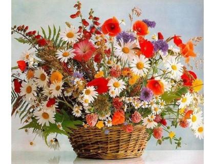 Купить Алмазная мозаика Цветы весны 40 х 30 см (арт. FS692)