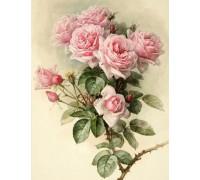 Алмазна вишивка мозаїка Шипи та рози 45 х 30 см (арт. FS890) квіти