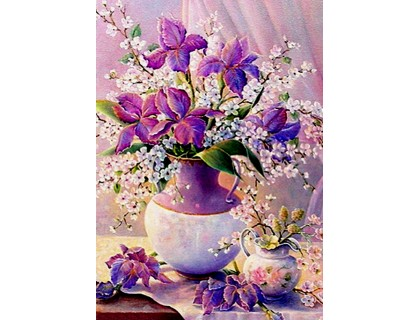 Купить Алмазная вышивка 40 х 30 см на подрамнике Сладкий запах цветов (арт. TN131)