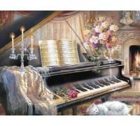 Алмазная вышивка 40 х 50 см на подрамнике В плену у музыки (арт. TN704)