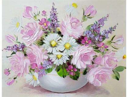 Купить Алмазная вышивка без коробки Полевые цветы MyArt 40 х 30 см (арт. MA598)