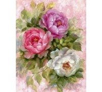 Алмазная вышивка без коробки MyArt Нежные лепестки цветов 40 х 30 см (арт. MA601)