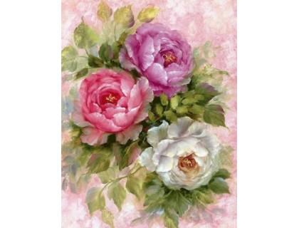 Купить Алмазная вышивка без коробки MyArt Нежные лепестки цветов 40 х 30 см (арт. MA601)