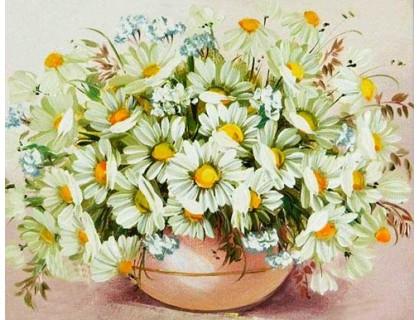 Купить Вышивка алмазами без коробки Полевые цветы для мамы 40 х 30 см (арт. MA603)