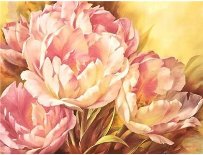Купить Алмазная вышивка Цветочная композиция без коробки 40 х 30 см (арт. MA621)