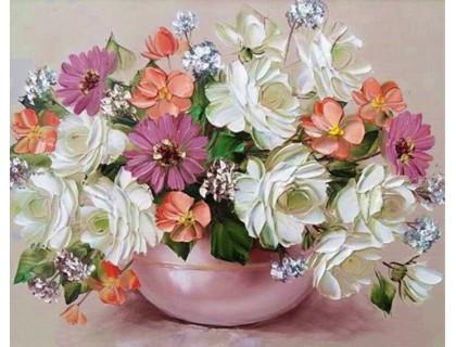 Купить Алмазная вышивка без коробки Сладкий аромат цветов 40 х 30 см (арт. MA622) MyArt