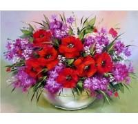 Алмазная мозаика без коробки MyArt Цветы для бабушки 40 х 30 см (арт. MA803)