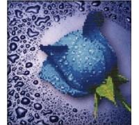 Набор алмазной вышивки Синяя роза 22 х 22 см (арт. PR063) частичная выкладка