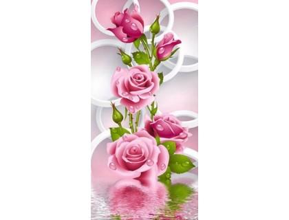 Купить Алмазная вышивка Цветение чайных роз 51 х 26 см (арт. PR452)