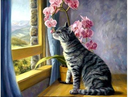 Купить Алмазная вышивка 50 х 40 см на подрамнике Сладкий запах орхидеи (арт. TN110)