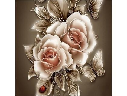 Купить DIY Алмазная вышивка 30 х 30 см на подрамнике Английские розы (арт. TN446)