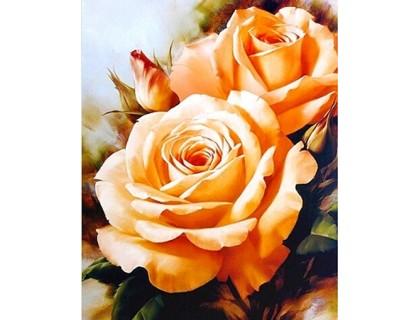 Купить Алмазная вышивка 30 х 20 см на подрамнике Сладкий аромат роз (арт. TN476)