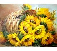 Алмазная вышивка 50 х 40 см на подрамнике Цветы солнца (арт. TN567)