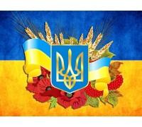 Алмазная вышивка на подрамнике 40 х 30 см Украина в моем сердце (арт. TN994)