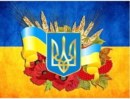 Купить Алмазная вышивка на подрамнике 40 х 30 см Украина в моем сердце (арт. TN994)