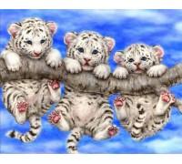 Алмазная вышивка Тигрята 30*40 см (арт. FS007)