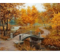 Алмазная вышивка Осенний парк 30*38 см (арт. FS008)