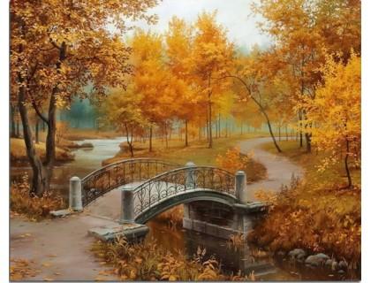 Купить Алмазная вышивка Осенний парк 30*38 см (арт. FS008)